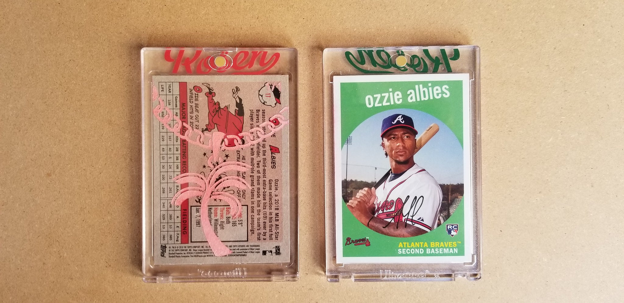 Baseball card art by Matthew Lee Rosen (aka Matthew Rosen) - Ozzie Albies Gold Chain