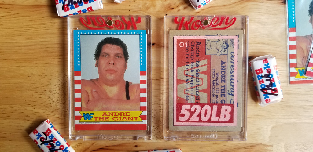 Baseball card art by Matthew Lee Rosen (aka Matthew Rosen) - Andre the Giant