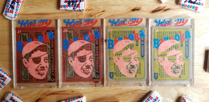 Baseball card art by Matthew Rosen - Bazooka Joe DiMaggio