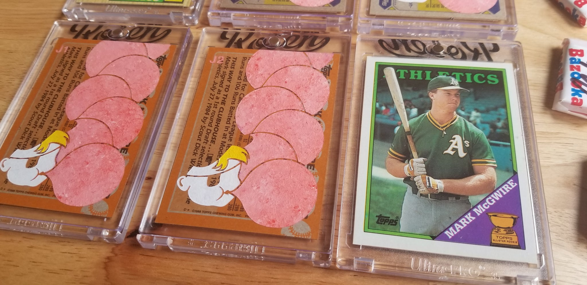 Baseball card art by Matthew Lee Rosen (aka Matthew Rosen) - Canseco and McGwire