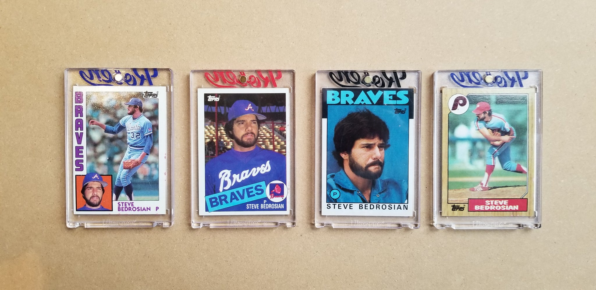 Baseball card art by Matthew Lee Rosen (aka Matthew Rosen) - Gum Stick Collector Cards - Steve Bedrosian