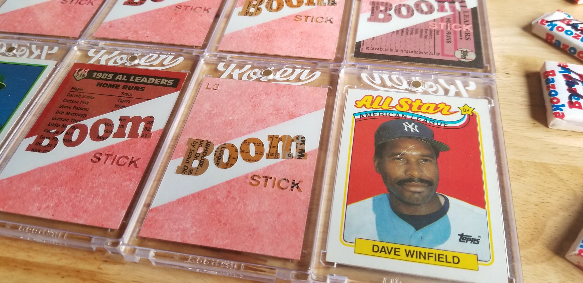 Baseball card art by Matthew Rosen - Boom Stick Home Run Leaders