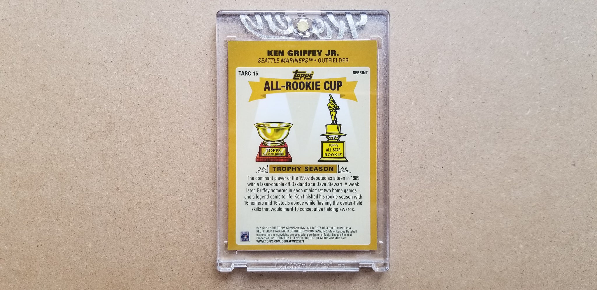 Baseball card art by Matthew Lee Rosen (aka Matthew Rosen) - Ken Griffey Jr Chrome C2