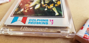 Baseball card art by Matthew Lee Rosen (aka Matthew Rosen) - Dolphins 17-0