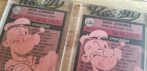 Baseball card art by Matthew Lee Rosen (aka Matthew Rosen) - Don Zimmer Popeye