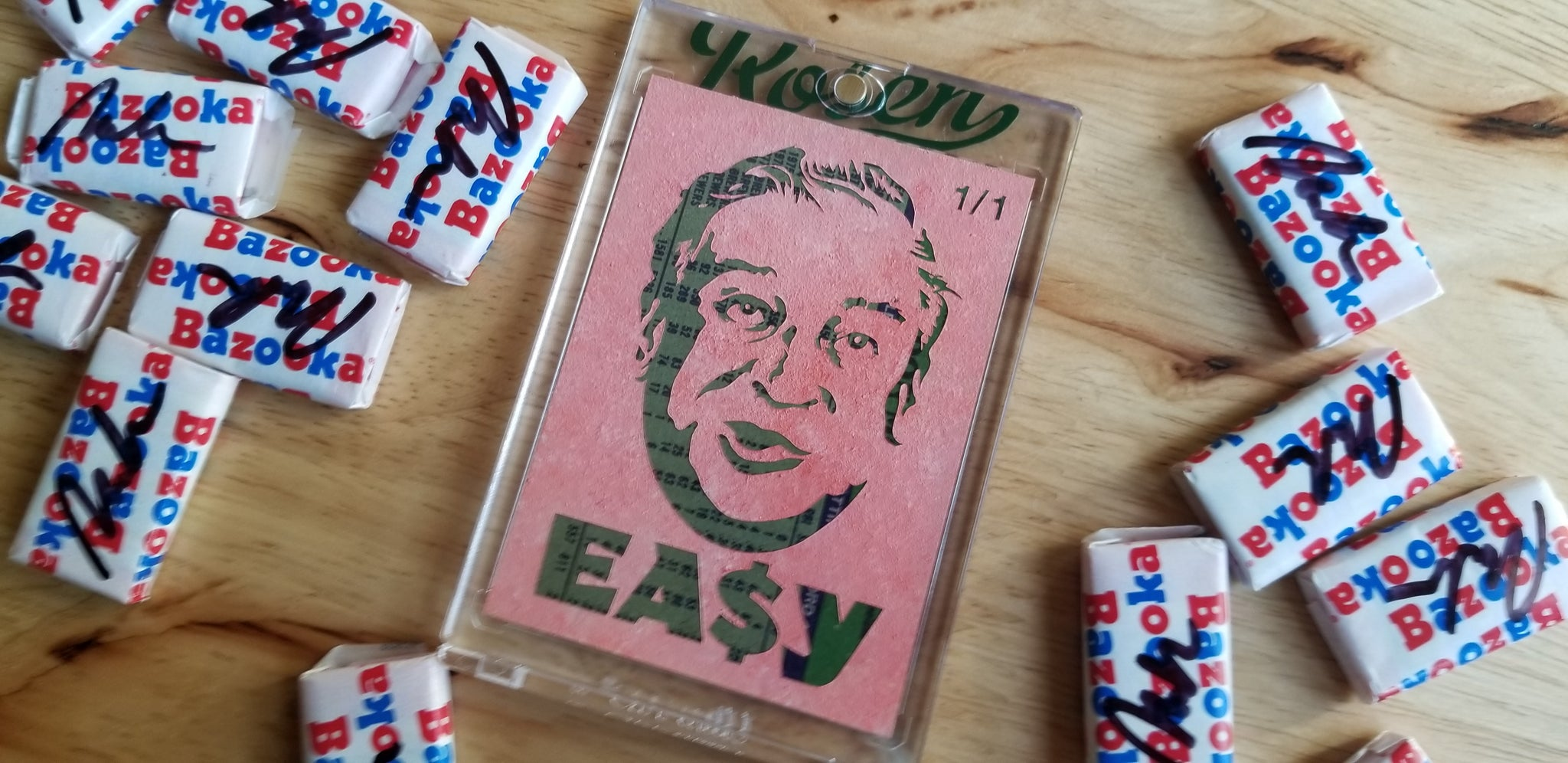 Baseball card art by Matthew Rosen - Don Easy Money