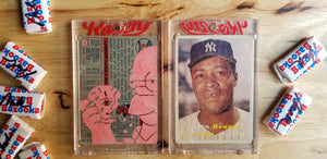 Baseball card art by Matthew Rosen - Elston Howard and Homer Simpson