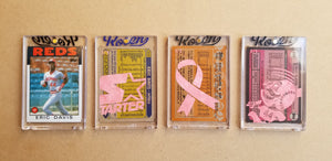 Baseball card art by Matthew Lee Rosen (aka Matthew Rosen) - Gum Stick Collector Cards - Eric Davis