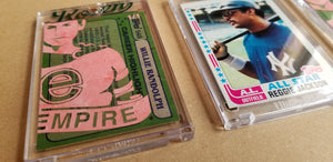 Baseball card art by Matthew Lee Rosen (aka Matthew Rosen) - Gum Stick Collector Cards - Evil Empire