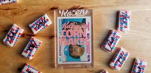Baseball card art by Matthew Rosen - Fernando Valenzuela Corn Flakes