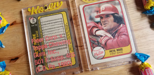 Baseball card art by Matt Rosen - 1981 Fleer Card Number 1