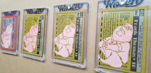 Baseball card art by Matthew Lee Rosen (aka Matthew Rosen) - Gum Stick Collector Cards - The Big Hurt (Peter Griffin)