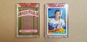 Baseball card art by Matthew Lee Rosen (aka Matthew Rosen) - George Brett Sweat