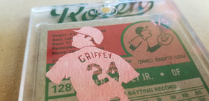 Baseball card art by Matthew Lee Rosen (aka Matthew Rosen) - Griffey Jr. Silhouette