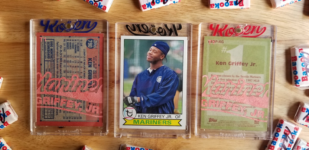Baseball card art by Matthew Lee Rosen (aka Matthew Rosen) - Ken Griffey Jr. 1989 Topps Traded