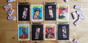 Baseball card art by Matthew Lee Rosen - G-Stick 1989 Topps All Stars