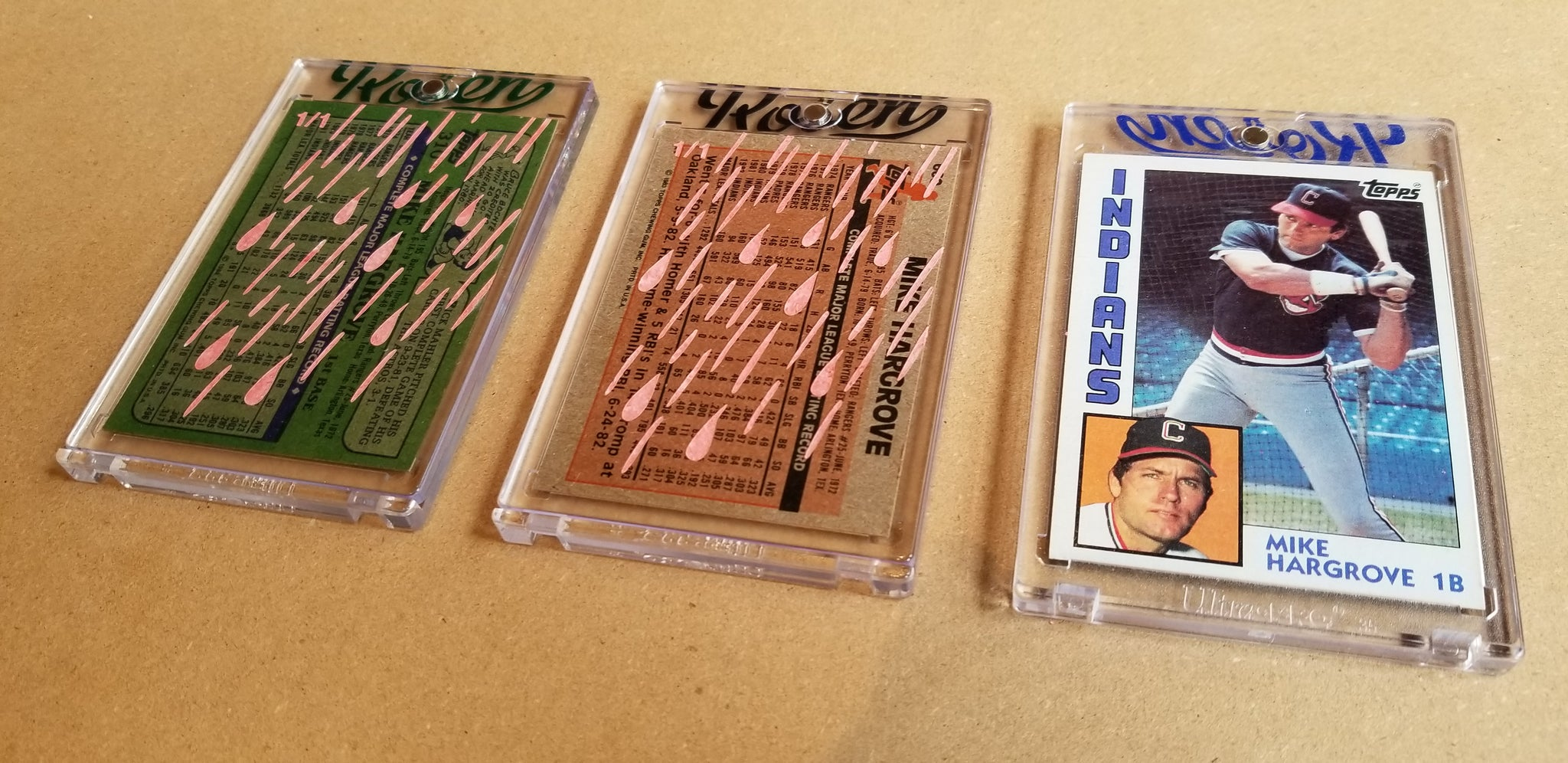 Baseball card art by Matthew Lee Rosen (aka Matthew Rosen) - Gum Stick Collector Cards - Mike Hargrove