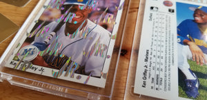 Baseball card art by Matthew Lee Rosen (aka Matthew Rosen) - Ken Griffey Jr. 1989 Nike Swoosh