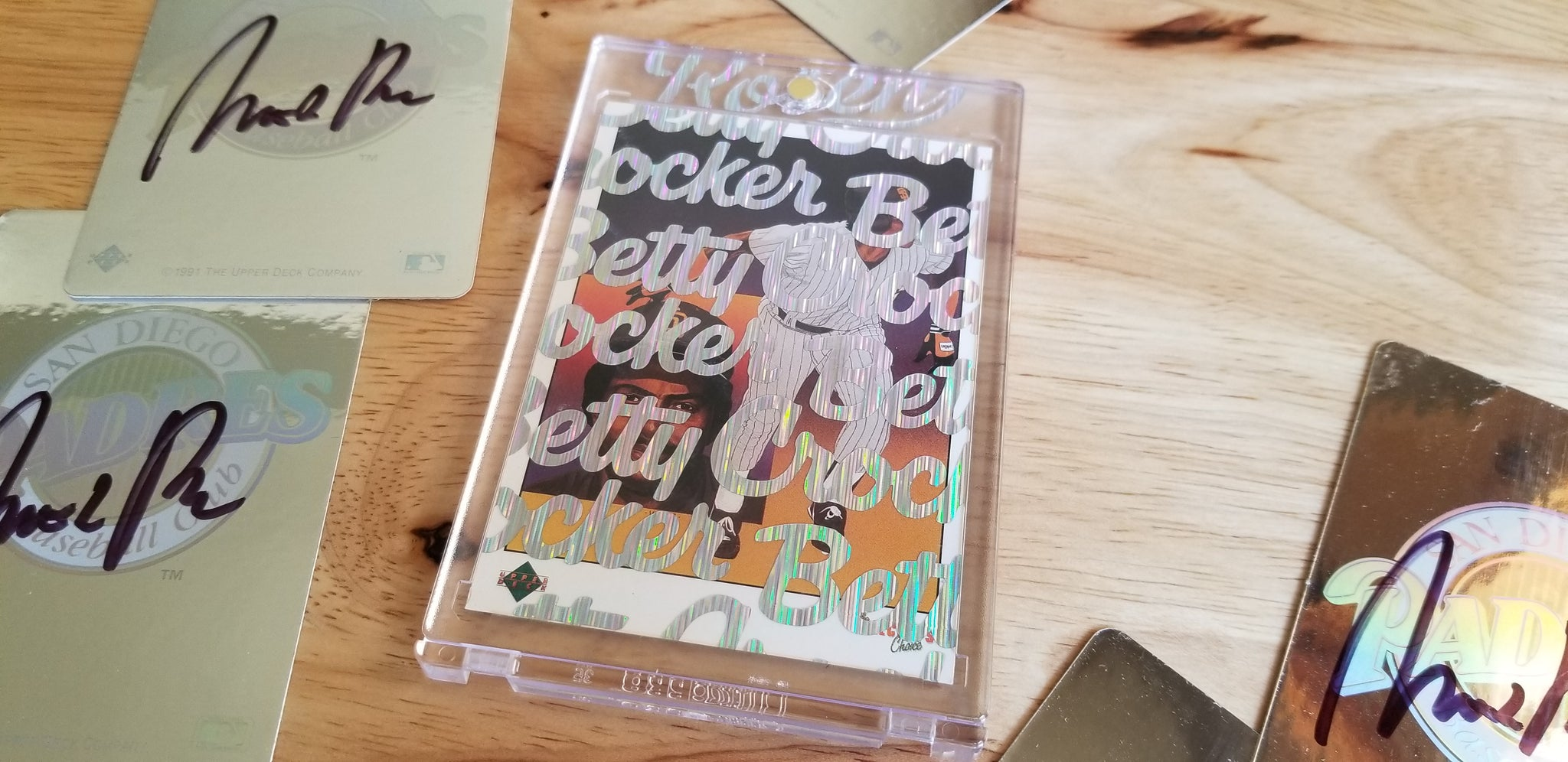 Baseball card art by Matthew Lee Rosen (aka Matthew Rosen) - Tony Gwynn Betty Crocker