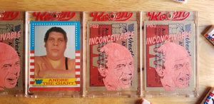 Baseball card art by Matthew Rosen - Andre the Giant in the Princess Bride