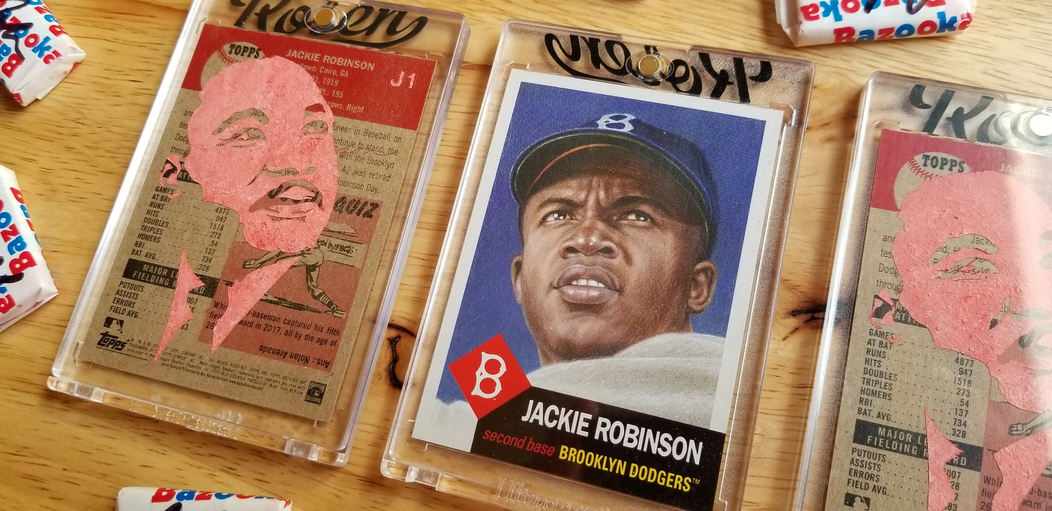 Baseball card art by Matthew Rosen - MLK