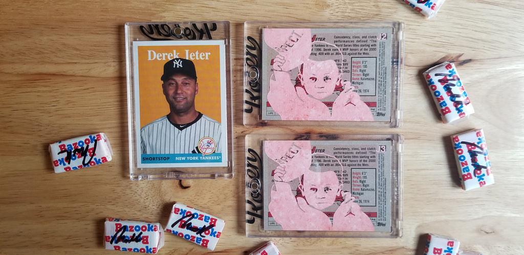 Baseball card art by Matthew Lee Rosen (aka Matthew Rosen) - Derek Jeter Respect