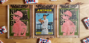 Baseball card art by Matthew Rosen - Joe Kelly and Carlos Correa