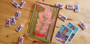 Baseball card art by Matthew Rosen - Dwight Gooden 1985 Topps Jumbo