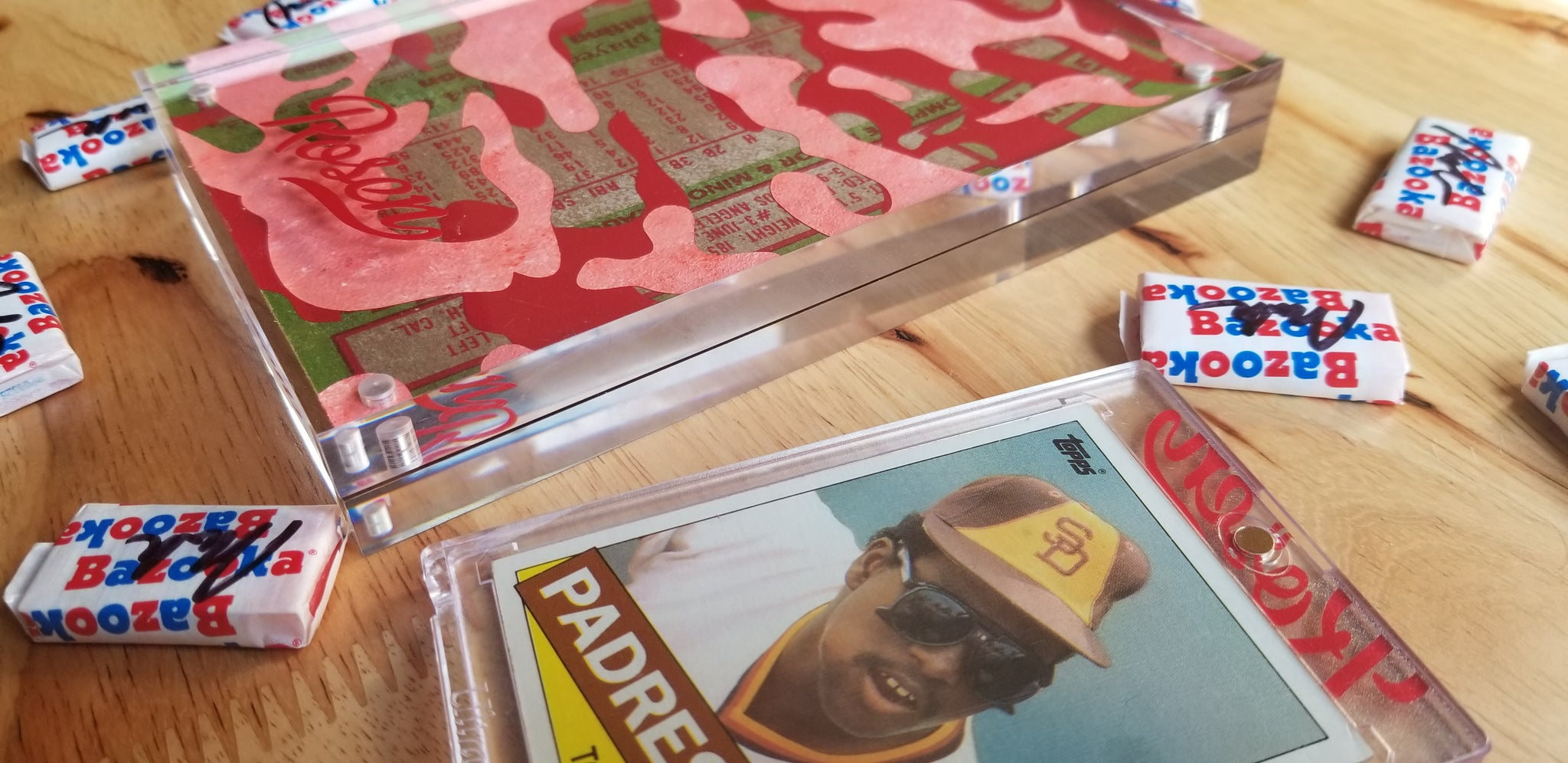 Baseball card art by Matthew Rosen - Tony Gwynn Padres Camo
