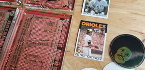 Jumbotron baseball card art by Matthew Rosen & Peter Chen