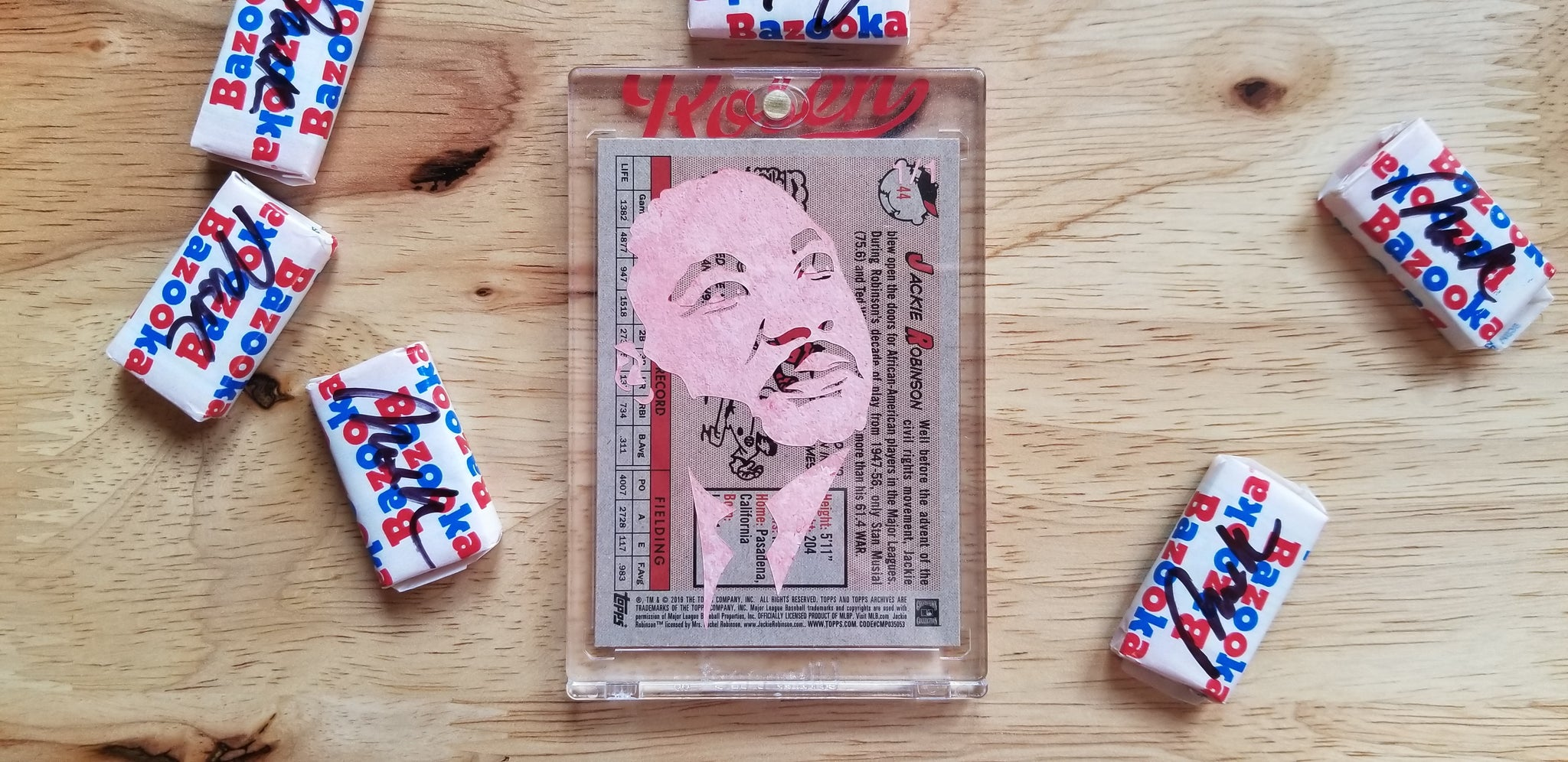 Baseball card art by Matthew Lee Rosen (aka Matthew Rosen) - MLK