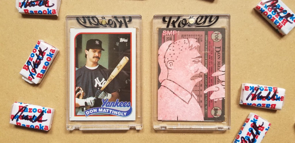 Baseball card art by Matthew Lee Rosen (aka Matthew Rosen) - Mattingly Simpsons