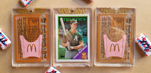 Baseball card art by Matthew Lee Rosen (aka Matthew Rosen) - Gum Stick Collector Cards - Mark McGwire (Big Mac)