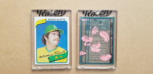 Baseball card art by Matthew Lee Rosen (aka Matthew Rosen) - Mickey Mouse Klutts