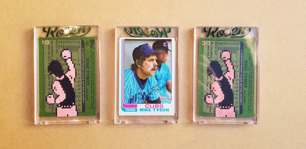 Baseball card art by Matthew Lee Rosen (aka Matthew Rosen) - Gum Stick Collector Cards - Mike Tyson's Punch Out