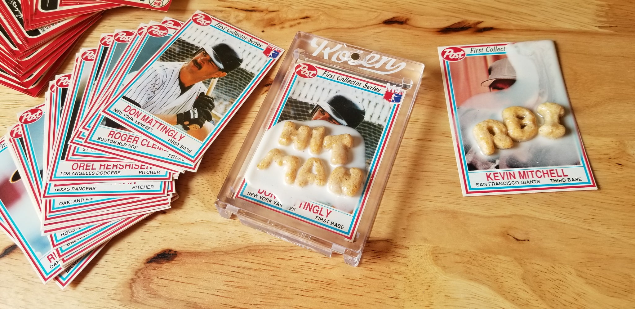 Baseball card art by Matthew Lee Rosen (aka Matthew Rosen) - Alpha-Bits and Milk