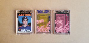Baseball card art by Matthew Lee Rosen (aka Matthew Rosen) - Gum Stick Collector Cards - Nolan Ryan (Rockin' Robin)
