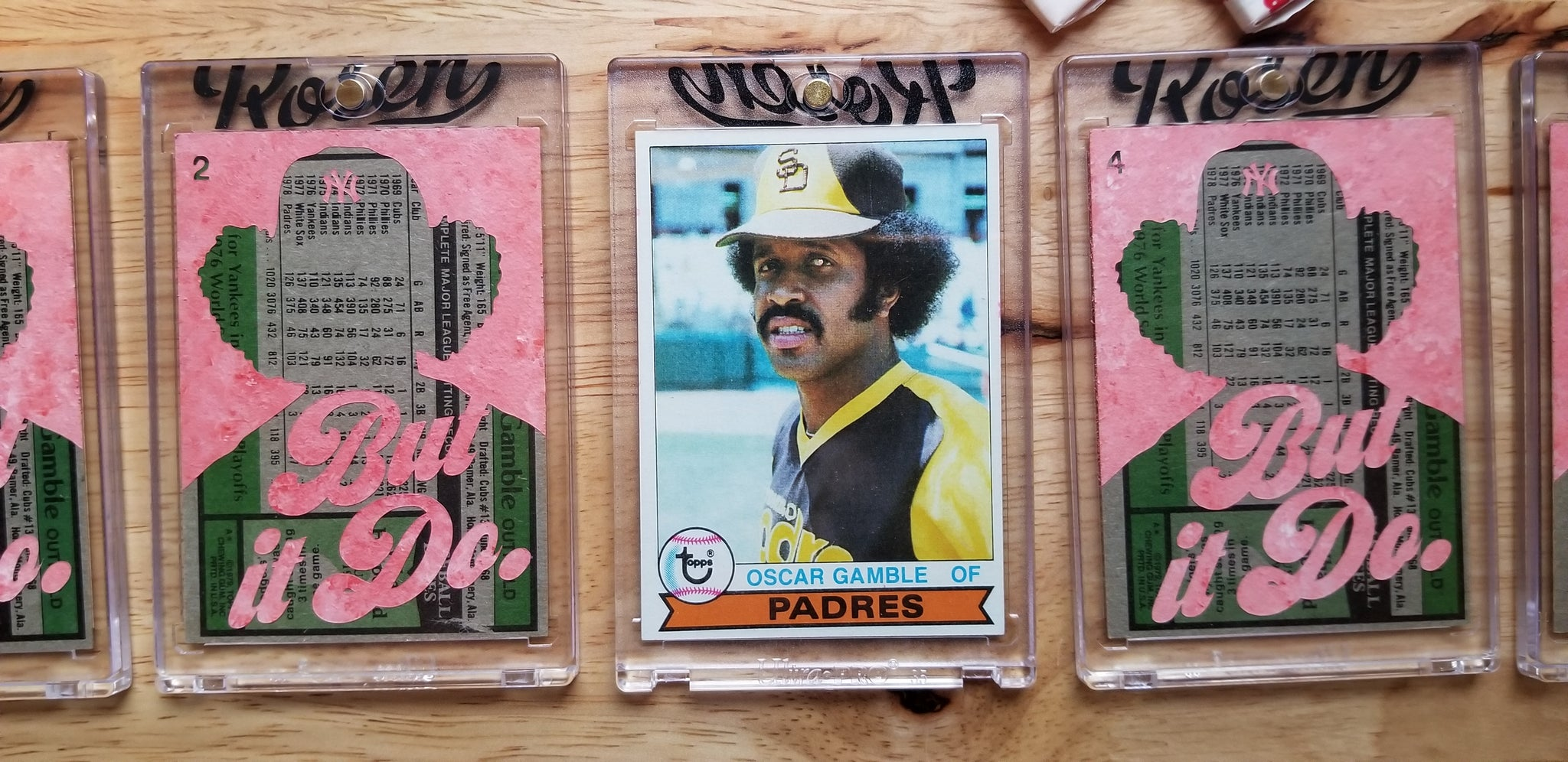Baseball card art by Matthew Lee Rosen (aka Matthew Rosen) - Oscar Gamble