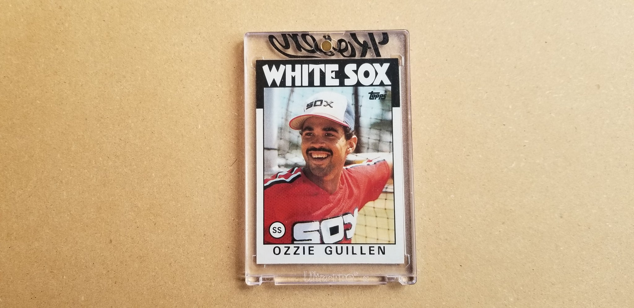 Baseball card art by Matthew Lee Rosen (aka Matthew Rosen) - Gum Stick Collector Cards - 1986 Topps Ozzie Guillen (AS Rookie Cup)