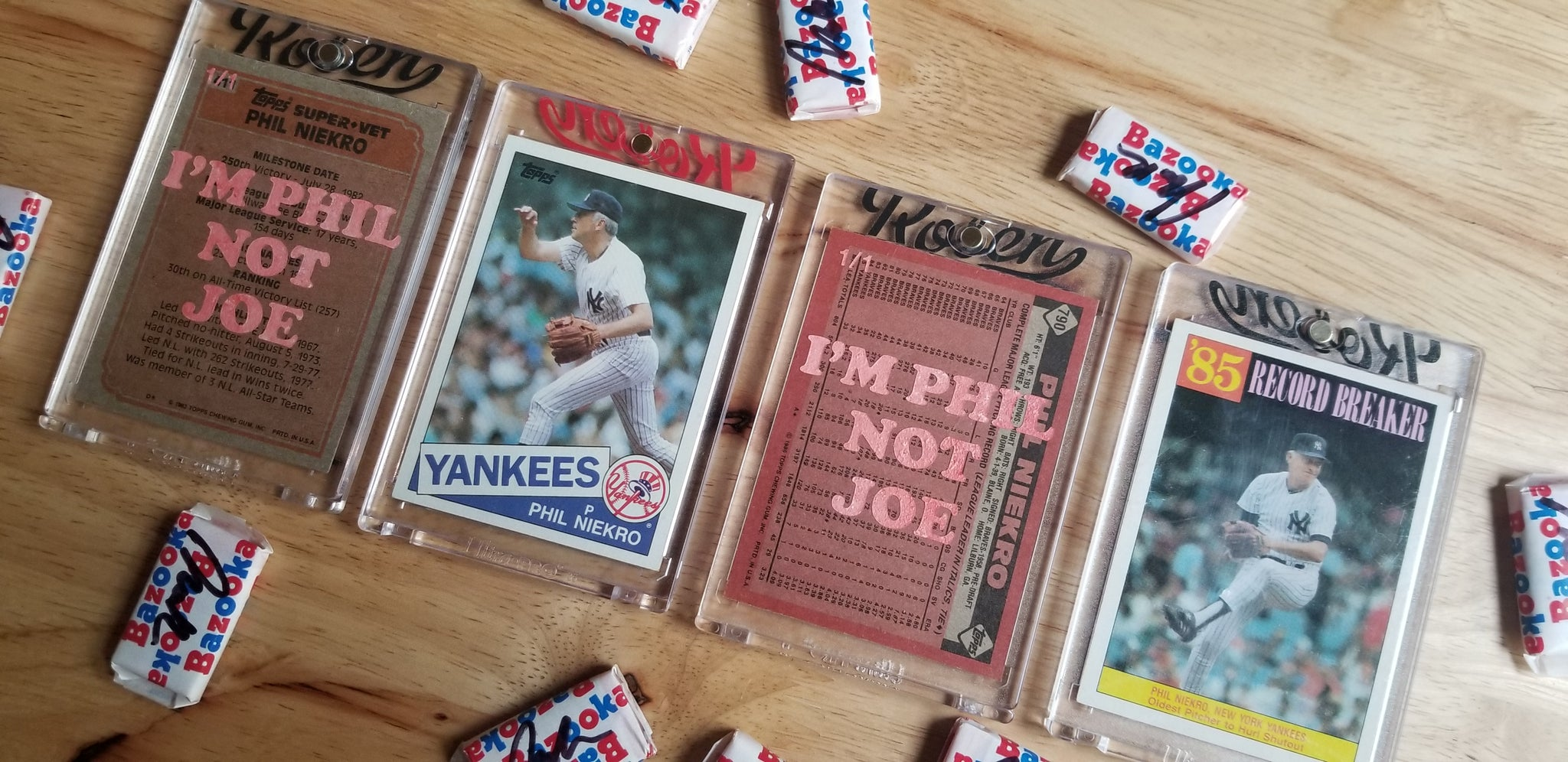 Baseball card art by Matthew Rosen - Phil Niekro