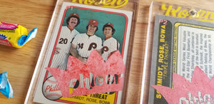 Baseball card art by Matthew Rosen - 1981 Phillies Phleer