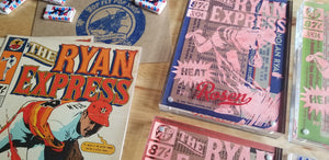Baseball card art by Matthew Rosen - Nolan Ryan Collab with Pop Fly