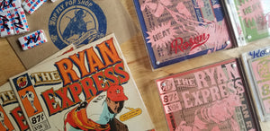 Baseball card art by Matthew Lee Rosen - Nolan Ryan Collab with Pop Fly