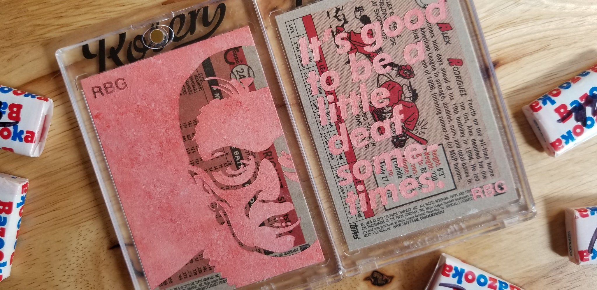 Baseball card art by Matthew Rosen - Ruth Bader Ginsburg