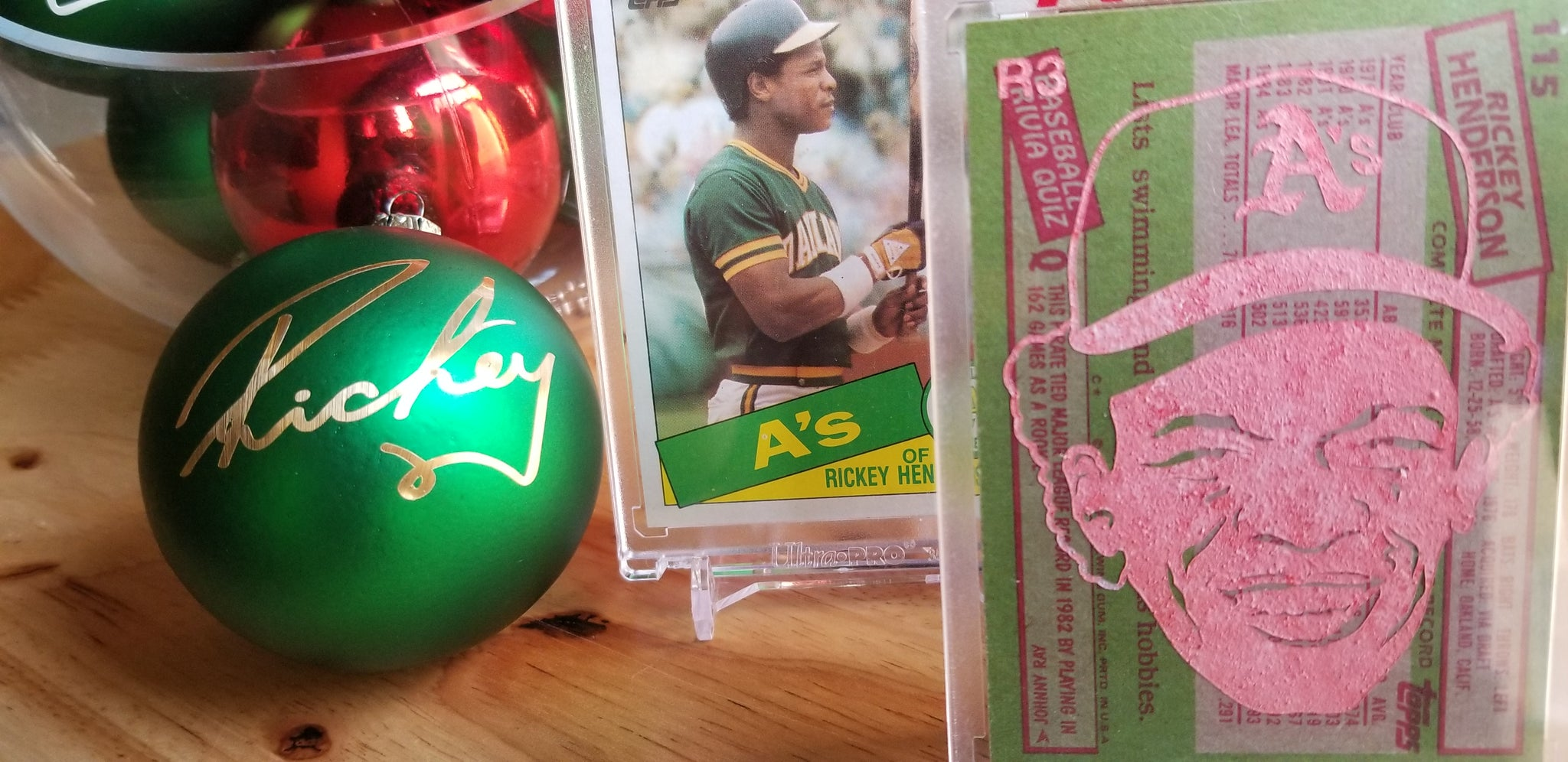 Baseball card art by Matthew Lee Rosen (aka Matthew Rosen) - How Rickey Stole Christmas