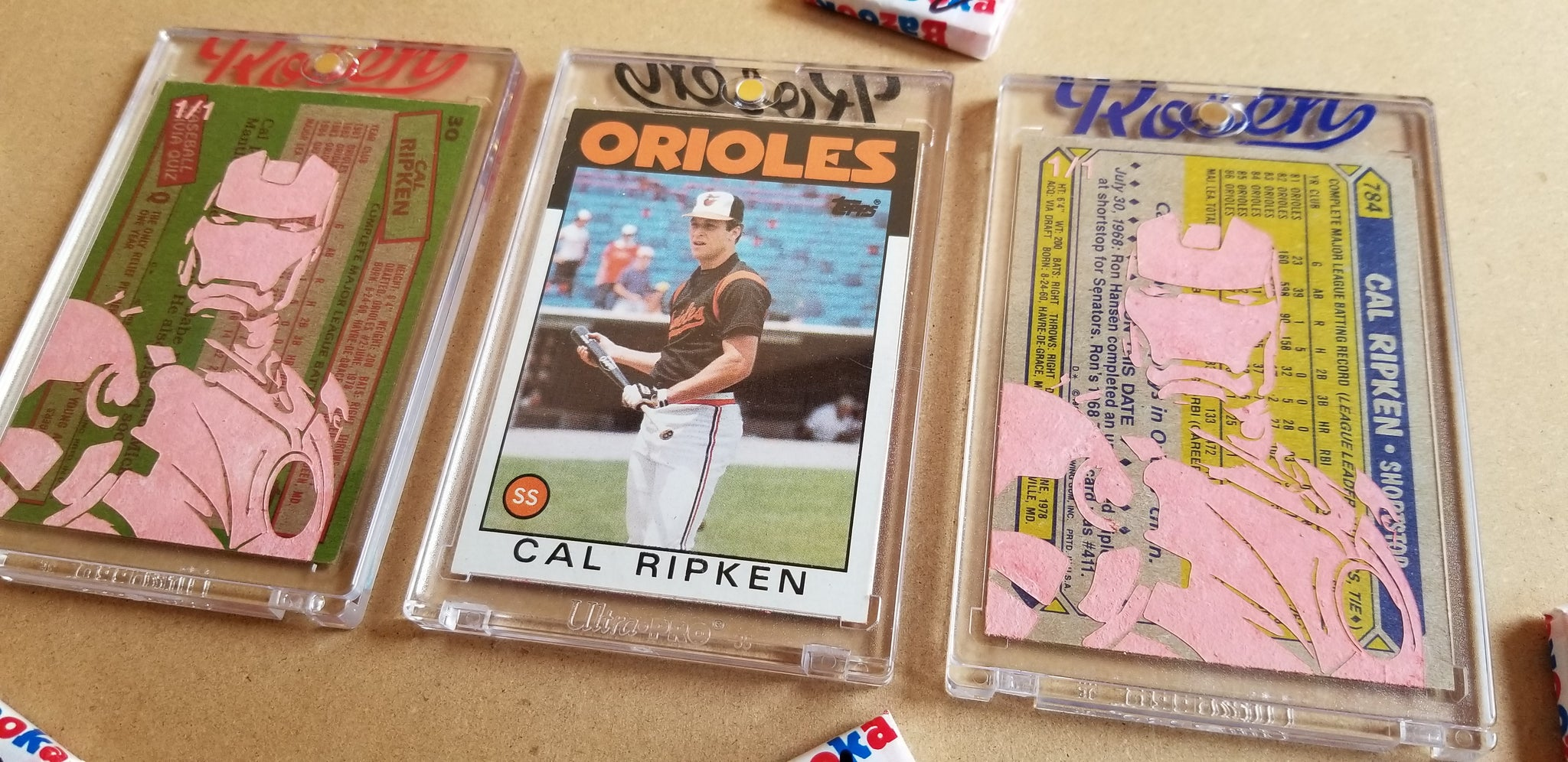 Baseball card art by Matthew Lee Rosen (aka Matthew Rosen) - Cal Ripken Jr. (Iron Man)