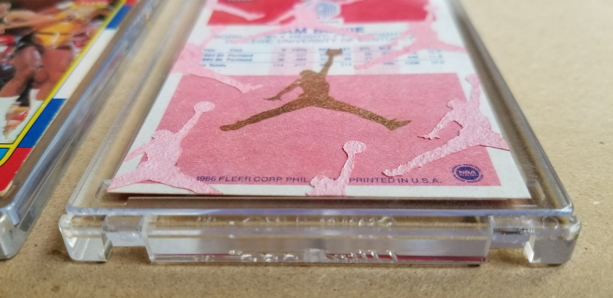 Baseball card art by Matthew Lee Rosen (aka Matthew Rosen) - Sam Bowie Jumpman