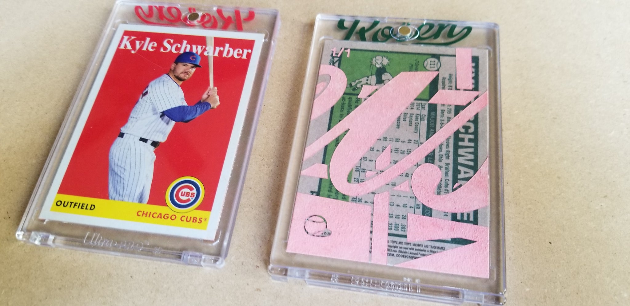 Baseball card art by Matthew Lee Rosen (aka Matthew Rosen) - Schwarber Moonshot