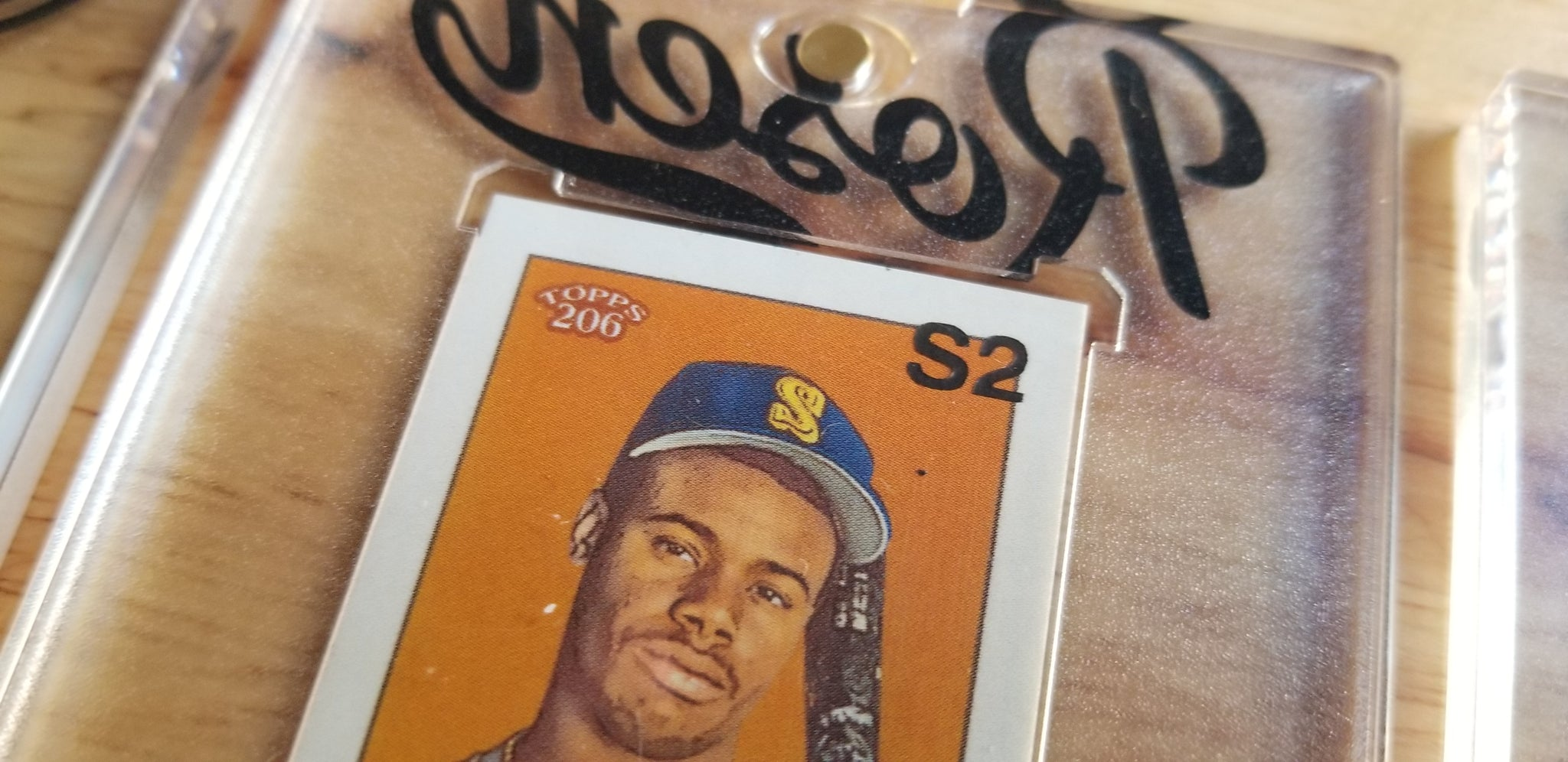 Baseball card art by Matthew Rosen - Ken Griffey Jr.T206