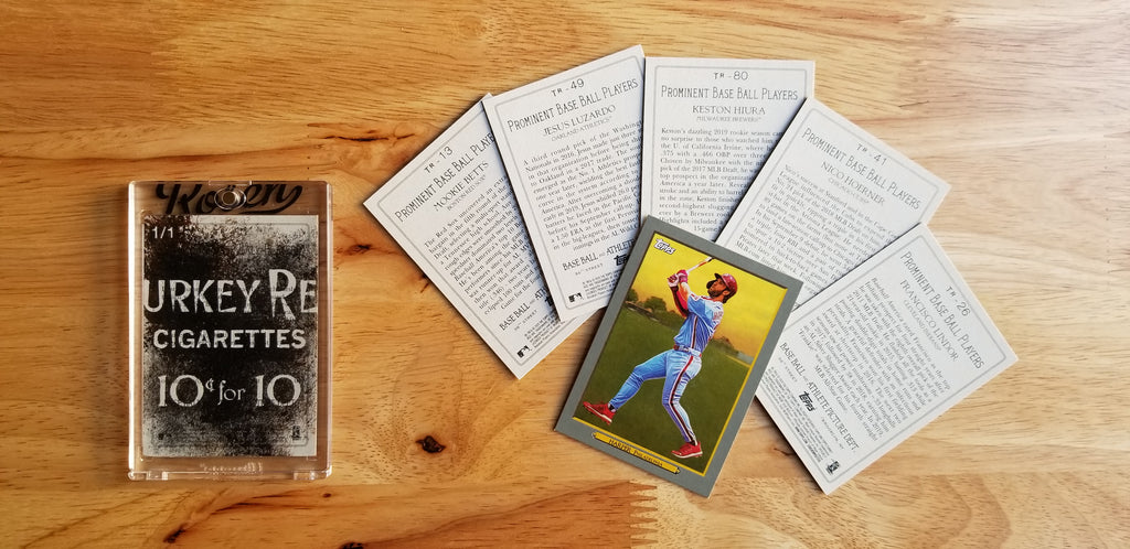 Baseball card art by Matthew Lee Rosen (aka Matthew Rosen) - Turkey Red Tobacco Tar Cards